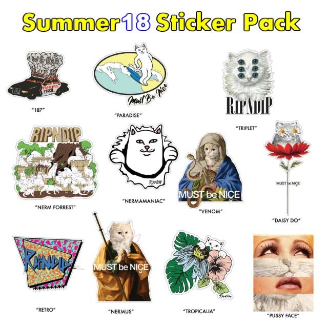 セール 20%オフ RIPNDIP リップンディップ Summer 18 Sticker Pack