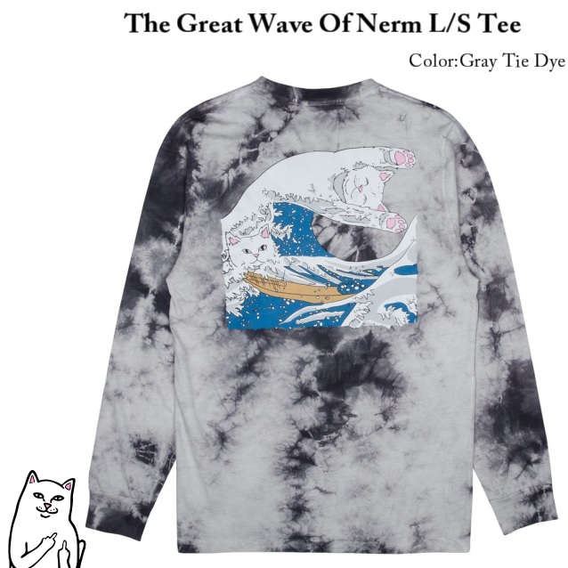 RIPNDIP リップンディップ The Great WaveGrey Tie Dye