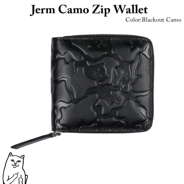 RIPNDIP リップンディップ Jerm Camo ZipWallet Blackout Camo