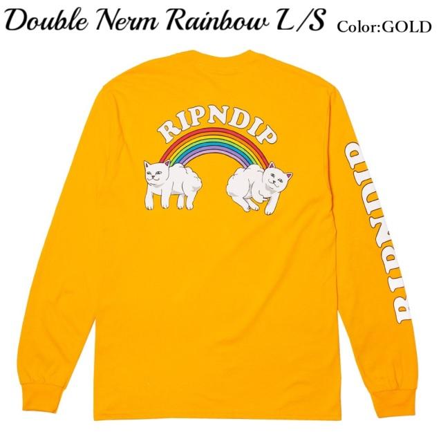 RIPNDIP リップンディップ Double Nerm Rainbow LS