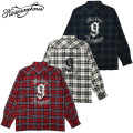 セール50%オフ NINE MICROPHONES ナイン CHECK SHIRT L/S 9MC Crew 長袖シャツ
