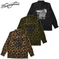 セール50%オフ NINE MICROPHONES ナイン CAMOUFLAGE SHIRT Strum your mind 長袖シャツ
