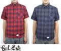 セール CUT RATE カットレイト S/S CHECK BD WORK SHIRT 半袖 ワークシャツ