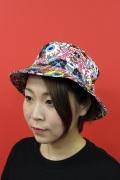 MISHKA ミシカ BUCKET HAT バケットハット KEEPWATCH 目玉 総柄 mss183234