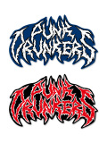 PUNK DRUNKERS パンクドランカーズ メタル風ロゴステッカー