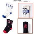 PUNK DRUNKERS パンクドランカーズ 三段ロゴ靴下