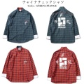 (先行予約) PUNK DRUNKERS パンクドランカーズ チャイナチェックシャツ【19年10月】入荷予定