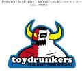(先行予約) PUNK DRUNKERS パンクドランカーズ [PDSxTOY MACHINE]MONSTERxあいつステッカー【19年10月】入荷予定