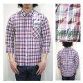 セール50%オフ ROLLING CRADLE ローリングクレイドル 3/4 SLEEVE RAKURAI SHIRT 七分袖シャツ