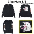 RIPNDIP リップンディップ Zipperface L/SBlack Mineral Wash