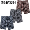 ZEPHYREN ゼファレン MODAL PAISLEY SWEAT SHORTS ショーツ
