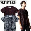 セール50%オフ ZEPHYREN ゼファレン VNECK TEE BONEYARD Tシャツ