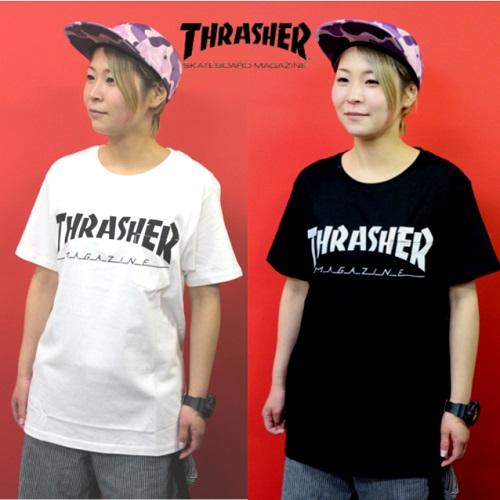 セール 20%オフ THRASHER スラッシャー CLASSIC POCKET S/S TEE  クラシック ポケット Tシャツ