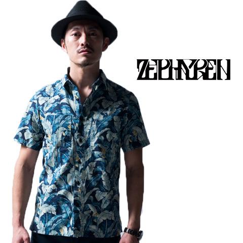 セール50%オフ ZEPHYREN ゼファレン ALOHA SHIRT S/S Resolve アロハシャツ