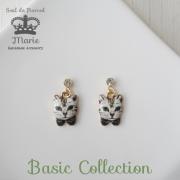 貼るピアス【シール10ペア付】 メタルプリント猫 | 57B