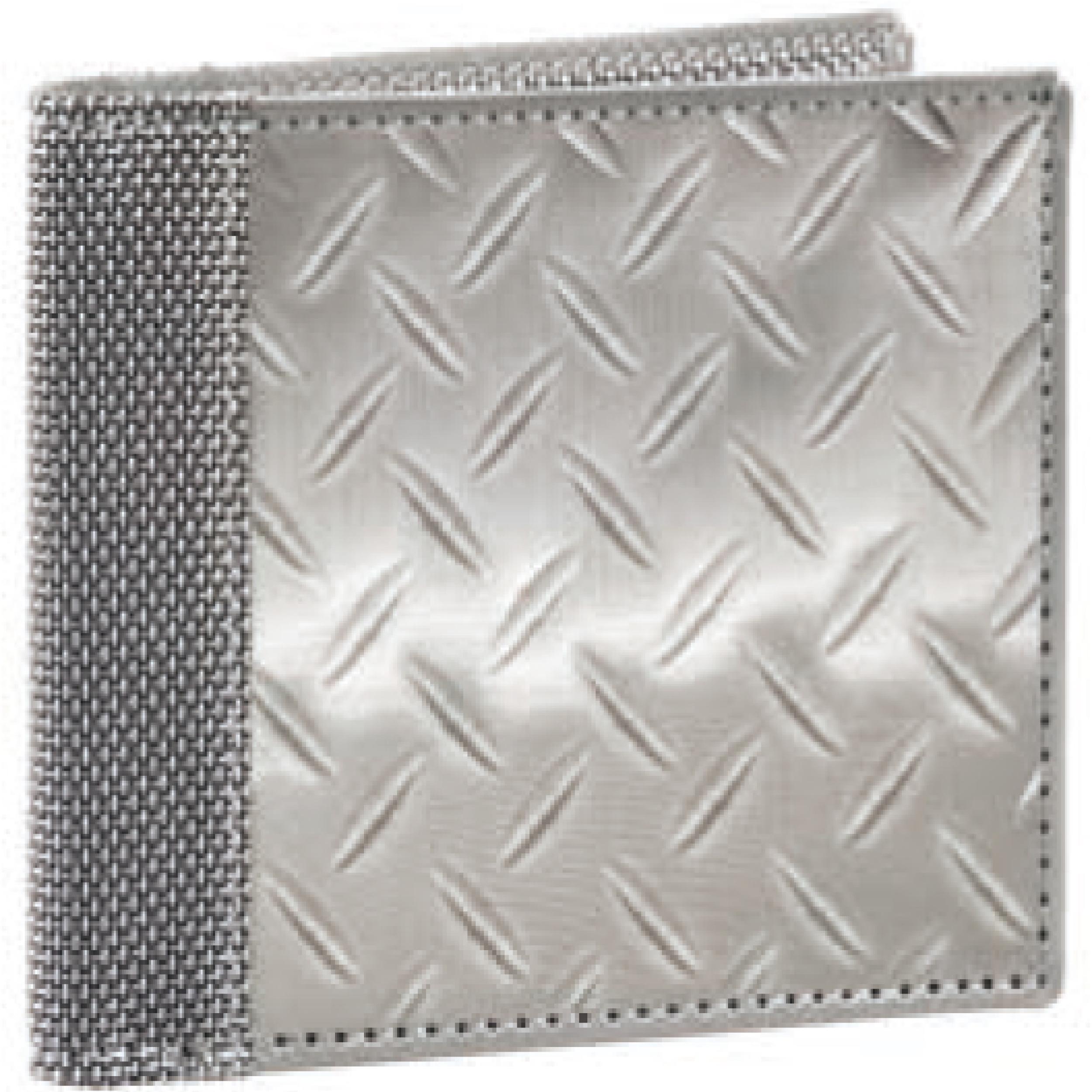 スチュワートスタンド  BF3701 ステンレス生地 ダイヤモンドプレート柄 2つ折財布 71522