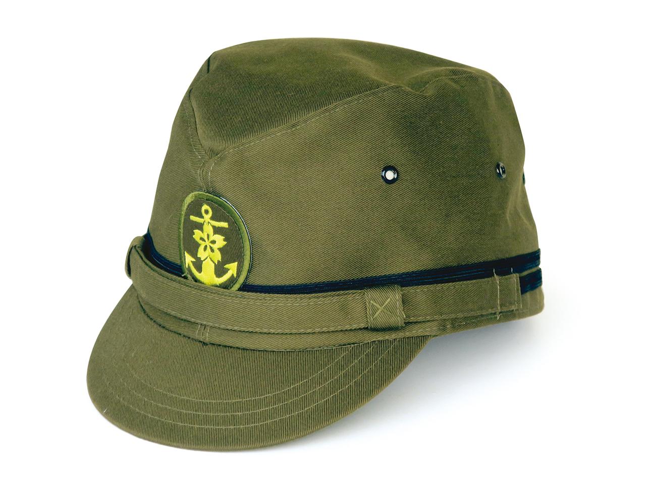 シャポーサオトメ 旧海軍士官略帽・グリーン 72002