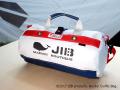 JIB ボーダーダッフルバッグ S ネイビー×レッド 71756