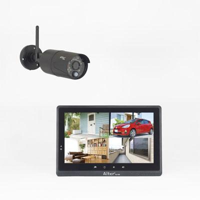外付HDD対応 フルHD無線カメラ&10インチモニターセット AFH-101