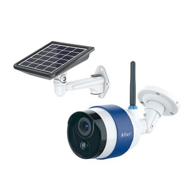 ソーラーバッテリー式スマホ対応Wi-Fiカメラ AT-740