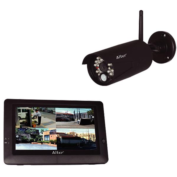 ハイビジョン無線カメラ&モニターセット インターネット接続可能 microSD128GB対応  AT-8801