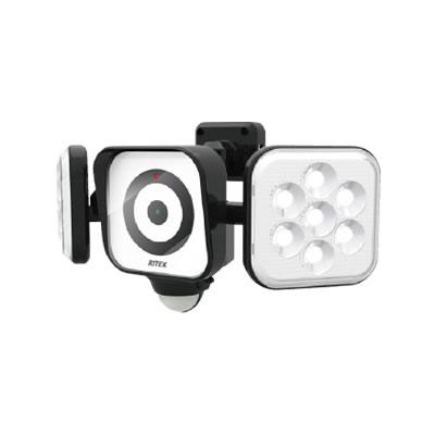 防犯カメラ搭載LEDセンサーライト8W×2灯 C-AC8160