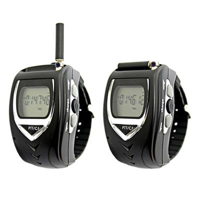 腕時計型特定小電力トランシーバー2台セット  イヤホンマイク付  FT-20W