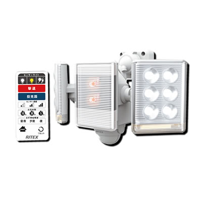 9W×2灯 フリーアーム式LEDセンサーライト リモコン付 LED-2018