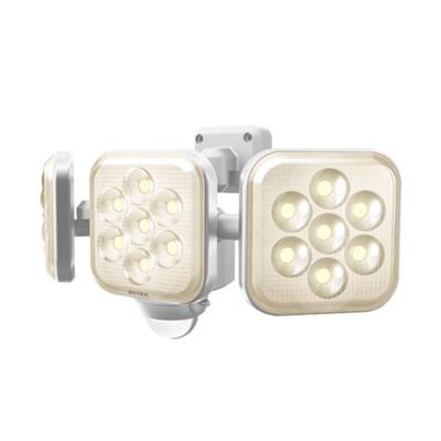 8W×3灯 フリーアーム式LEDセンサーライト電球色 LED-AC3025