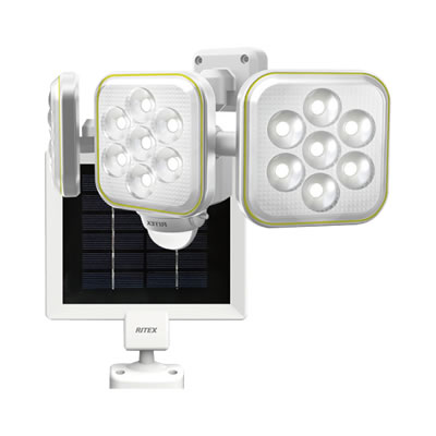 5W×3灯フリーアーム式 LEDソーラーセンサーライト S-90L