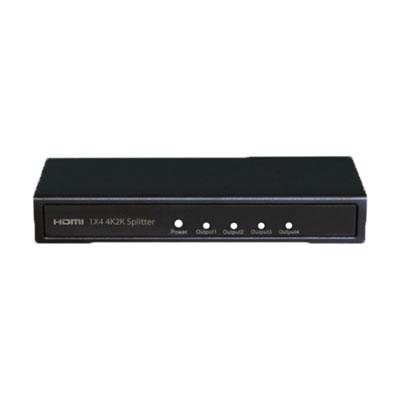 映像の4分配に対応したHDMI分配器 THDSP14D-4K