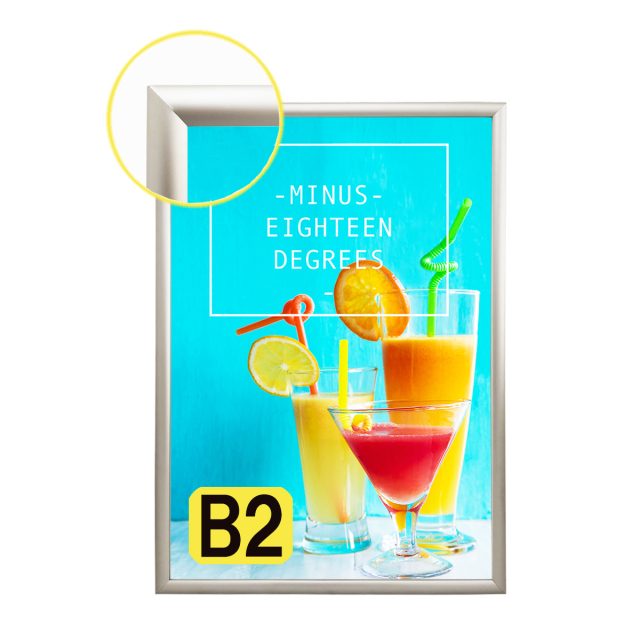 LEDライトパネル LED看板 LEDパネル 薄型 壁掛け看板 店舗用看板 ポスター入れ看板 内照式看板 四辺開閉式 高輝度 高品質 室内用 B2サイズ シルバー SH-20 B2