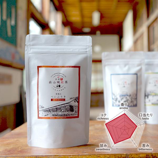 南山城紅茶:べにふうき ファーストフラッシュ 2021年春摘み 「京都の和紅茶」  メール便「可」 30g