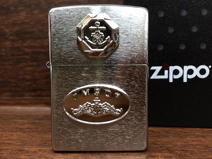 ZIPPO(海上自衛隊・潜水艦記章[ドルフィン・シルバーメッキ])
