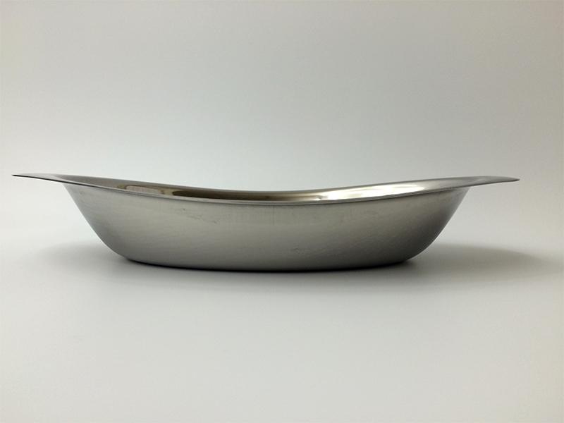 ステンレスカレー皿(桜イカリ刻印入り)