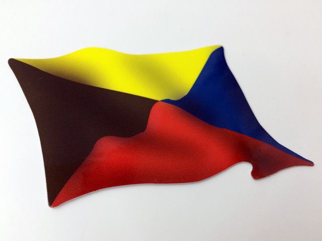 ステッカー(国際信号旗 Z旗なびき)