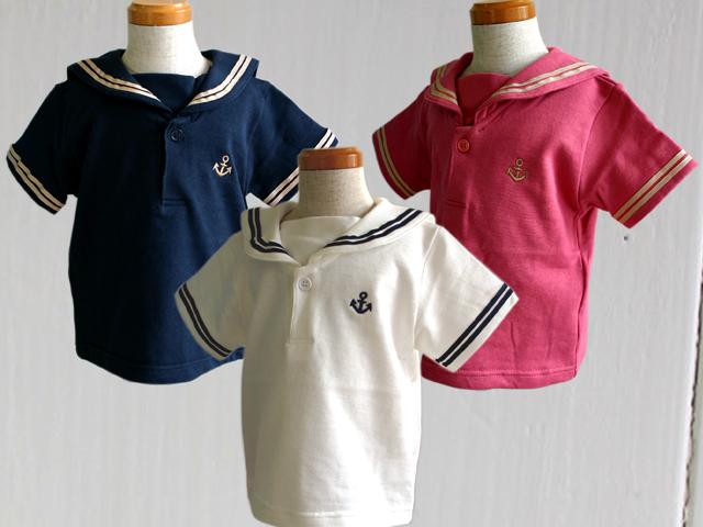 セーラーカラーTシャツ