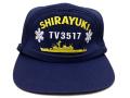 部隊識別帽(練習艦しらゆき)アゴヒモ付