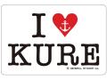 ステッカー[I LOVE KURE]