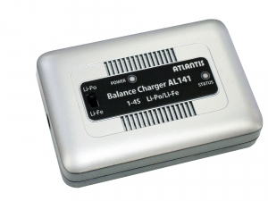 ATLANTIS Balance Charger AL141 LiPo/LiFe 1S~4S用バランス充電器 1A充電 専用ACアダプター付属