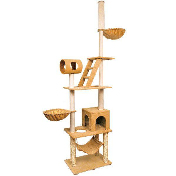 猫ちゃんのストレス解消!!オシャレなキャットタワー 猫タワー キャットファニチャー 天井突張り式 AA