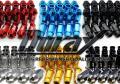 ジュラルミン製 ホイールナット 20本セット ロング貫通ナット 赤レッド/青ブルー/黒ブラック/金ゴールド/チタン/銀シルバー P1.5 P1.25