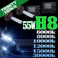 HID H8 キット 55W HIDフルキット HIDキット ヘッドライト キセノン ディスチャージヘッドライト HIDライト hid H8 車 パーツ カー用品 ケルビン数【6000K 8000K 10000K 12000K 15000K 30000K選択