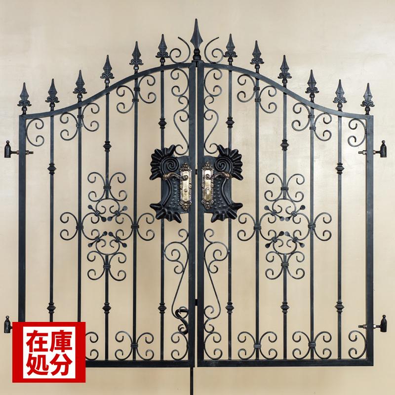 ロートアルミ,門扉,,両開き門扉,アイアン,おしゃれ,アンティーク,アルミ,激安,安い,鉄