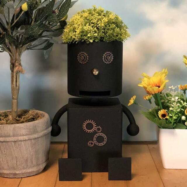 鉢置き,アイアン,植木鉢,ロートアイアン,プランタースタンド,ロボット,プランターボックス,花台,アイアン雑貨,ガーデニング,おしゃれ