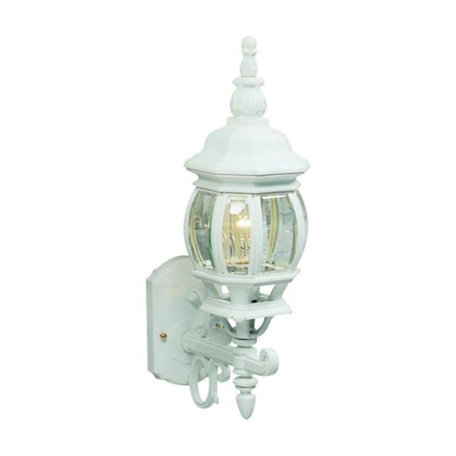 ヨーロピアンクラシコ/白1灯アウトドアライト・玄関照明/ウォールタイプ・アップ型