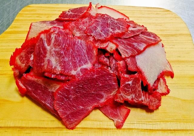 肉ベーコン盛り付け②
