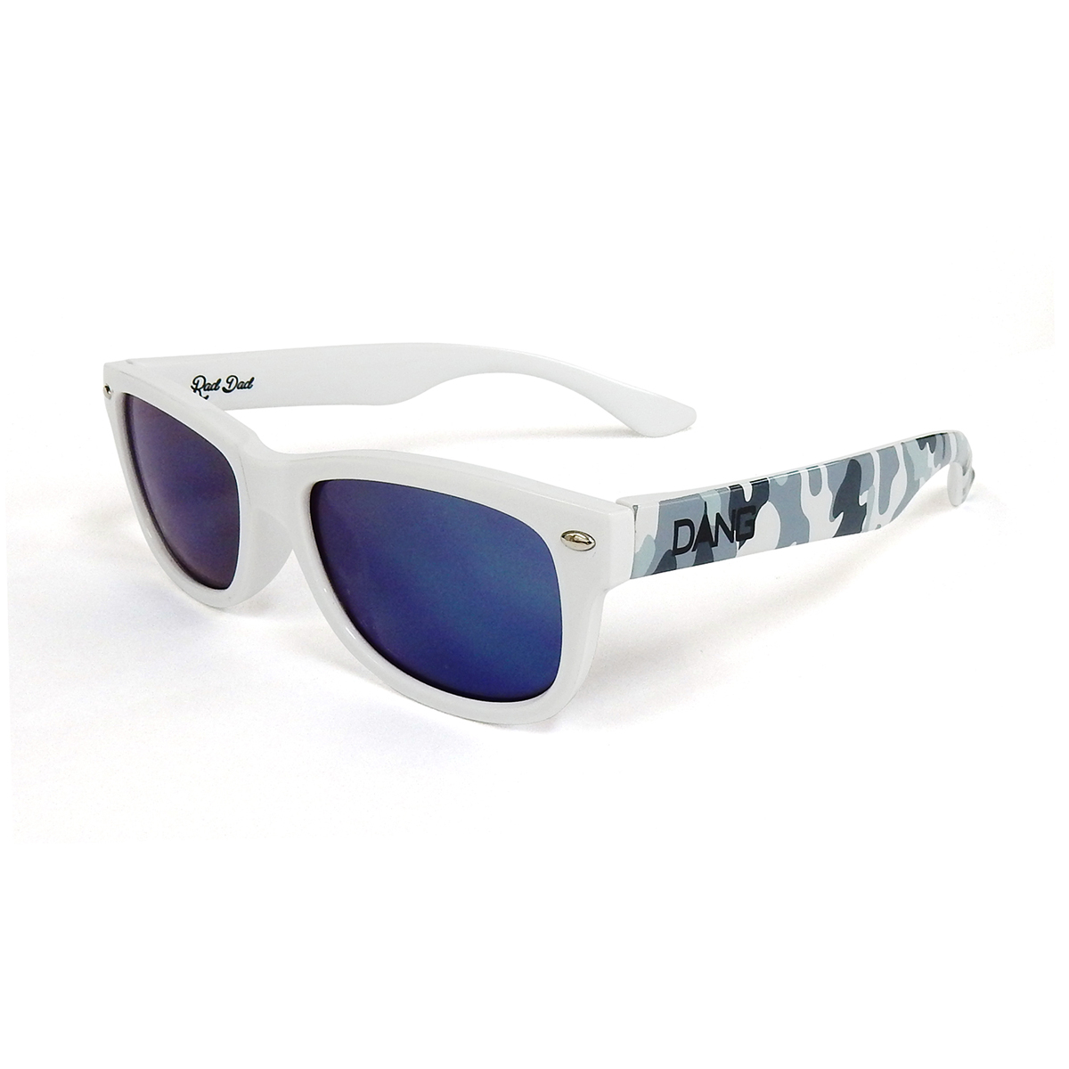 Dang Shades vidg00255 RAD DAD UT White / Gray Camo x Blue Mirror キッズサングラス