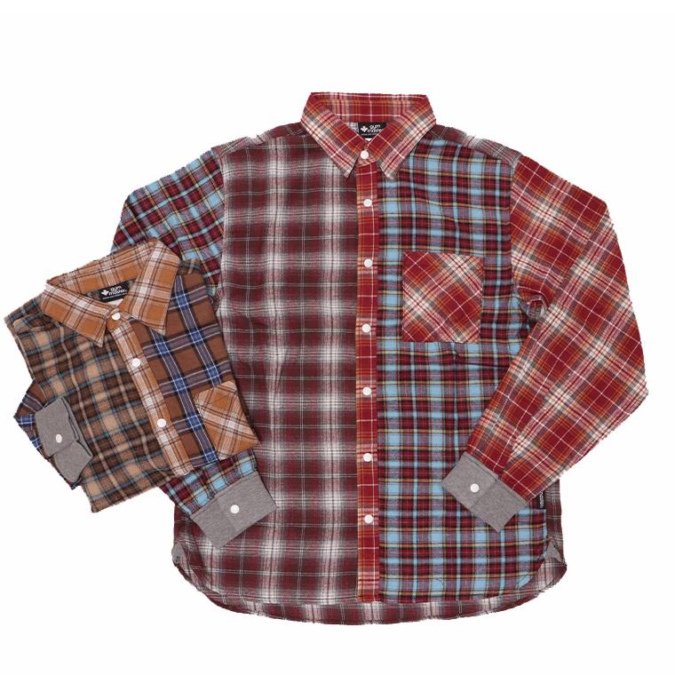 gymmaster ジムマスター G557644 スナップボタン2WAY チェックシャツ