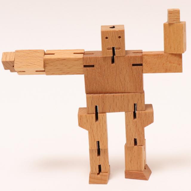 木のぬくもり雑貨 CUBEBOT マイクロキューボット NT ナチュラル 木製玩具